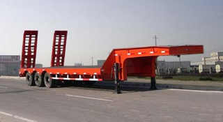 Hot sale 3 axles 80 tons heavy duty Low platform semi trailer