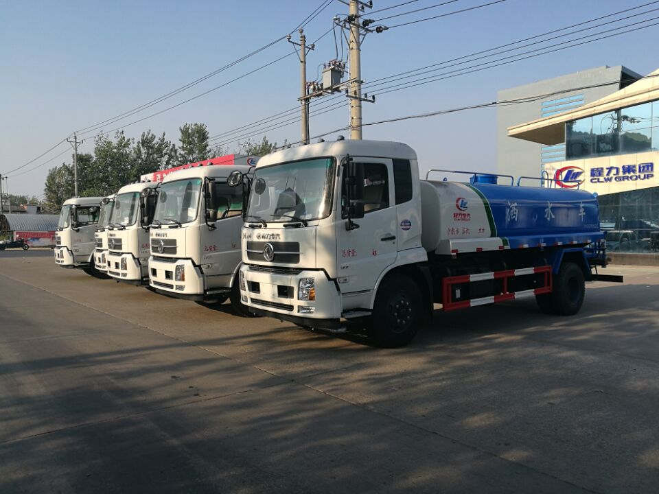 How to operate the water bowser and water spraying truck?