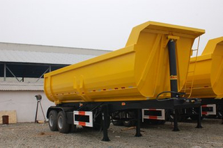 2 Axles 18CBM U Shape Tipper Semi Trailer Tipping Semi-Dumper