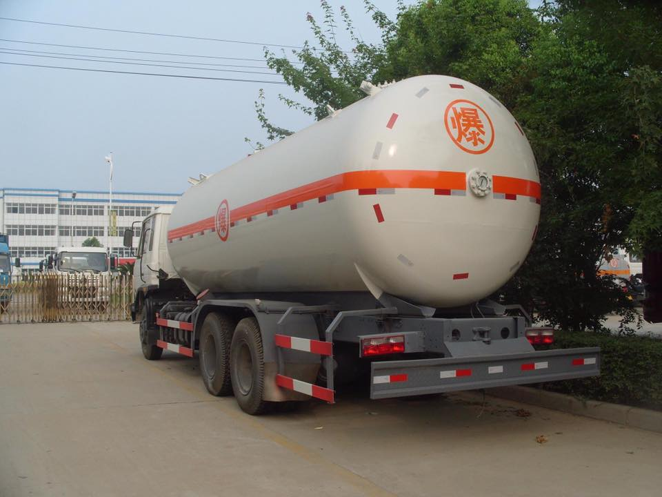 Fully Pressurized DongFeng 6x4 20cbm LPG Propane Delivery Road Truck