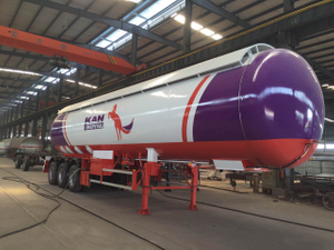 LPG Propane Tanker 3 Axles 56m3 Semi Trailer for Sale