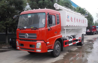 Professional heavy duty 10 Tons Bulk Grain Truck for paddy wheat transportation