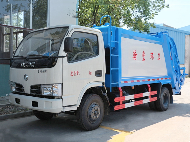4X2 Dongfeng 5CBM Garbage Compactor Truck