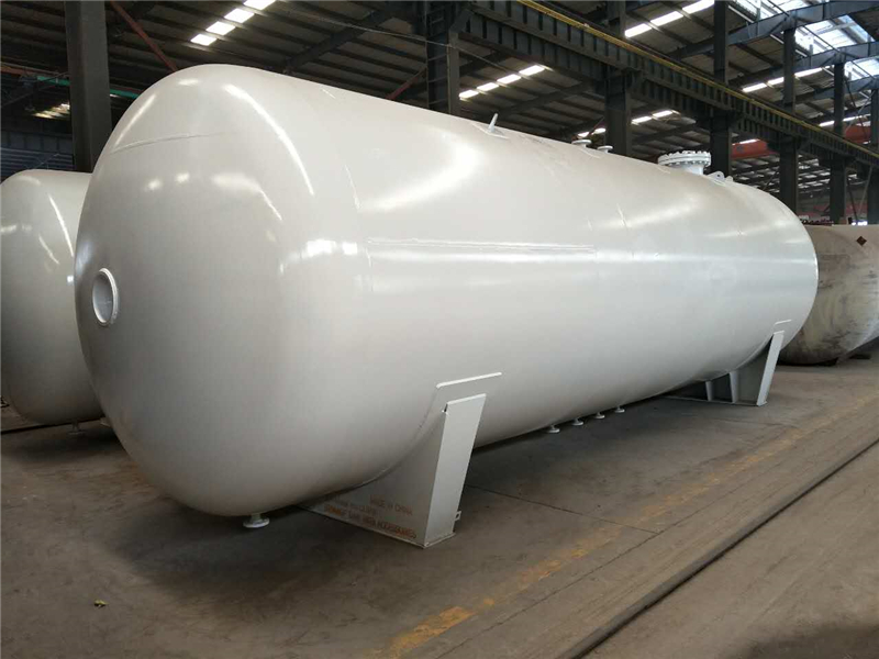 LPG storage tank installation